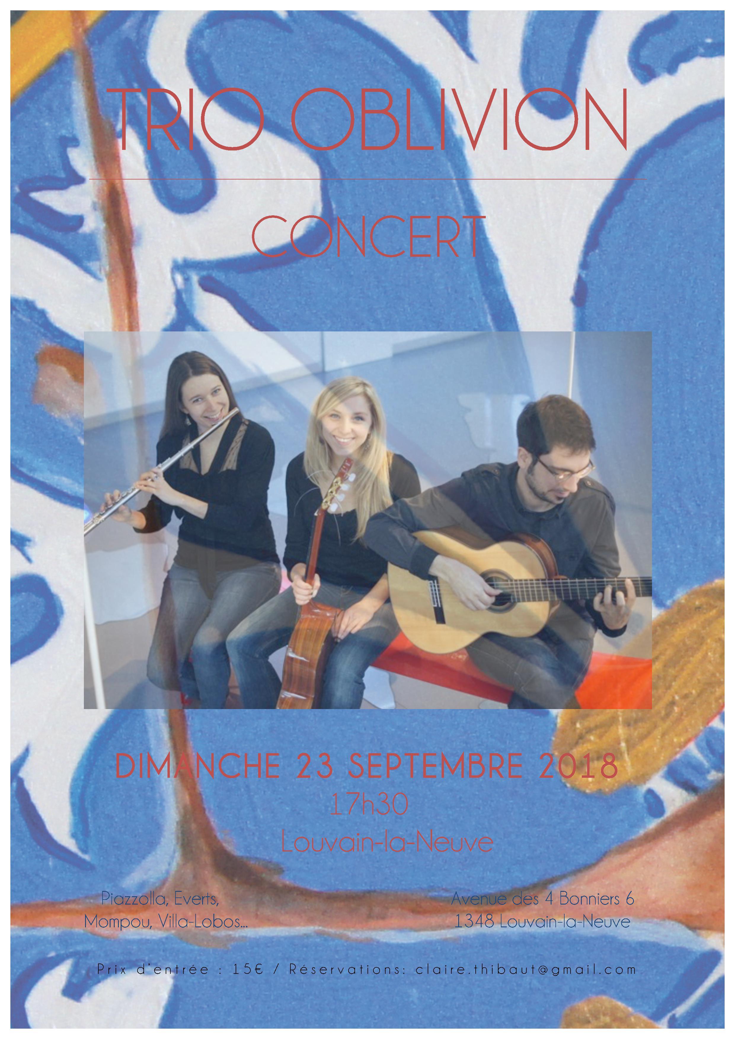 Affiche Trio Oblivion Louvain-La-Neuve (1)