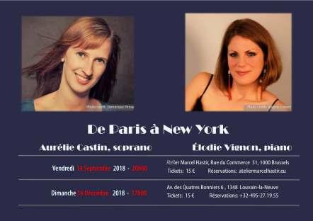 Récital de Paris à New-York